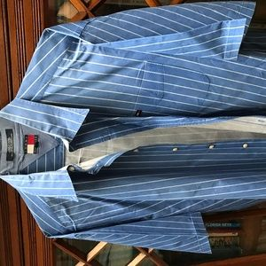 S/S Tommy Hilfiger Blue Pinstripe shirt